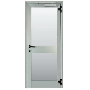 Vendita porta vetrata tagliafuoco ad una anta rei 30 rei - Porta esterna in alluminio ...
