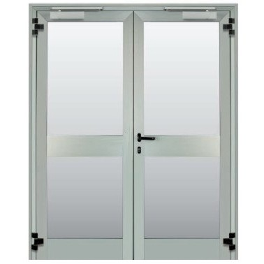 vendita porta vetrata tagliafuoco a due anta rei 60 rei
